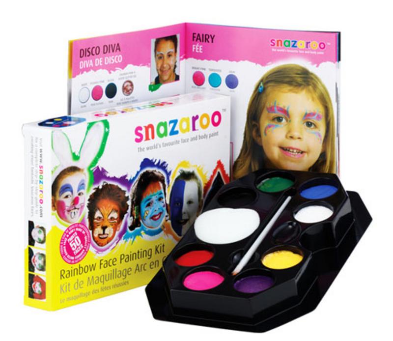 Rainbow Face Paint Kit Set Gay Pride Fancy Dress Clown Makeup