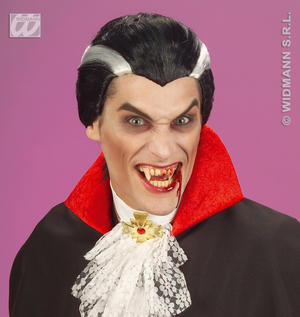 Black White Vampire Dracula Wig Halloween Fancy Dress