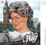 Agatha Christie Short Grey Wig Granny Nan Grandma Fancy Dress