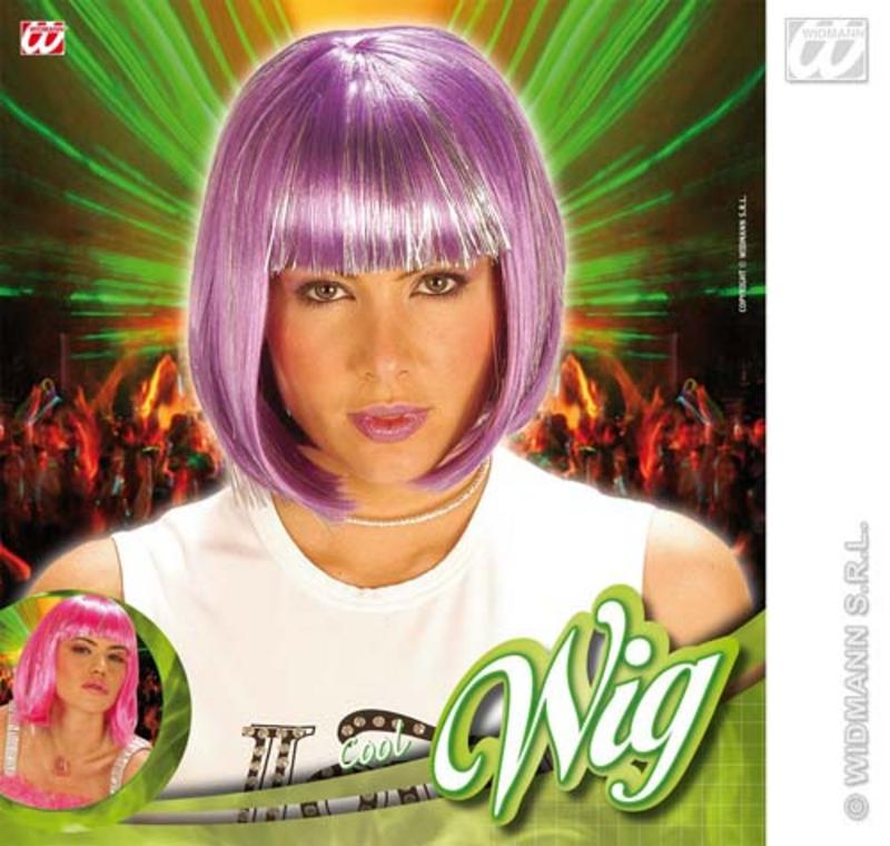 Ladies Purple Sexy Bob Wig Jessie J Lady Gaga Fancy Dress