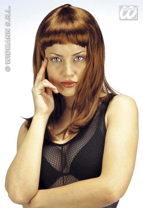 Long Brown Fashion Wig Celebrity Fancy Dress