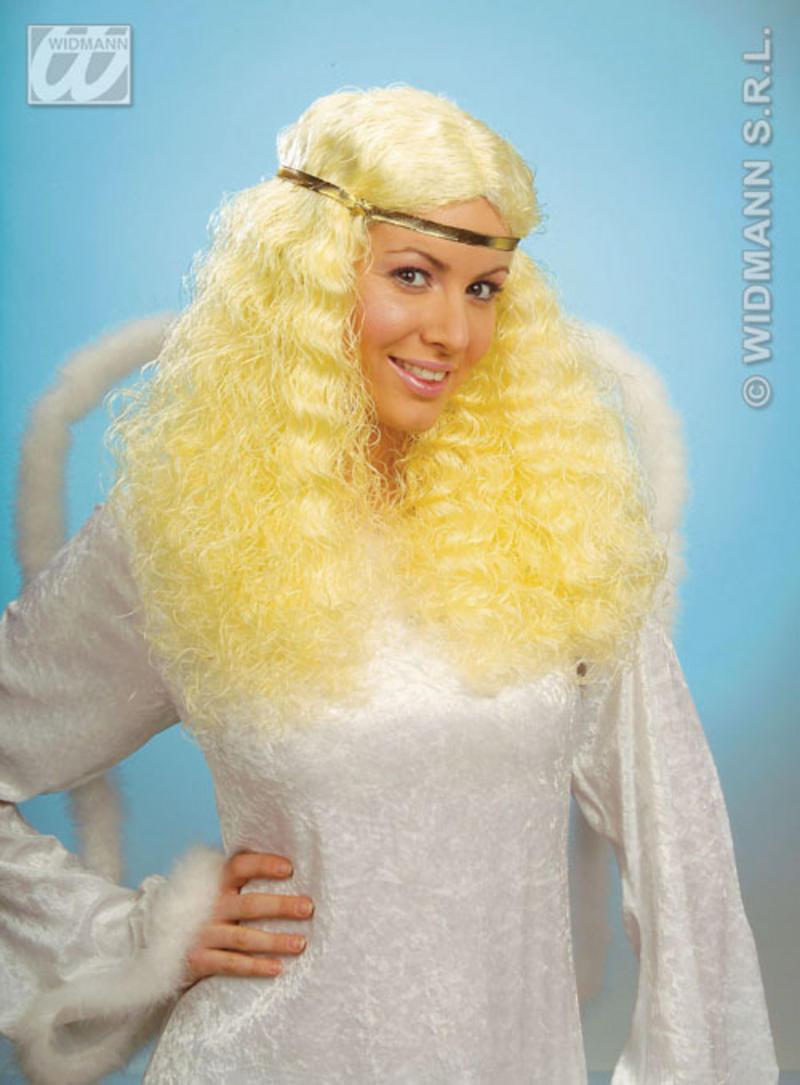 Long Frizzy Blonde Wig Angel Gabriel  Little Mermaid Fancy Dress