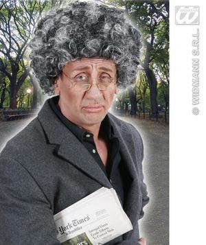 Black Grey Wig Old Man Woman Witch Halloween Fancy Dress