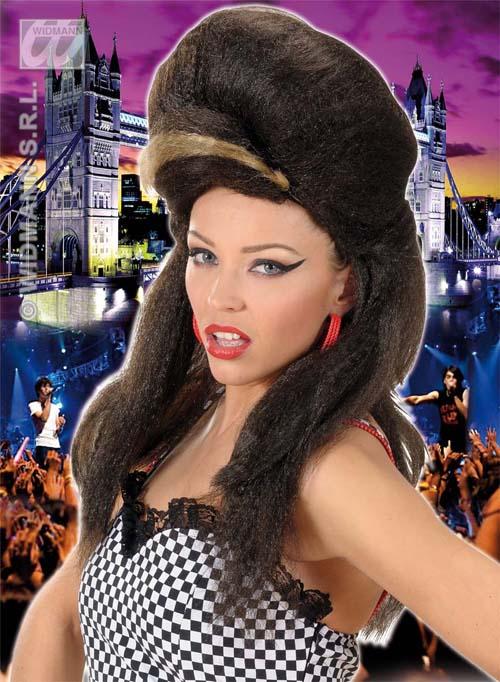 Premium Amy Winehouse Beehive Wig Glamour Celebrity Fancy Dress
