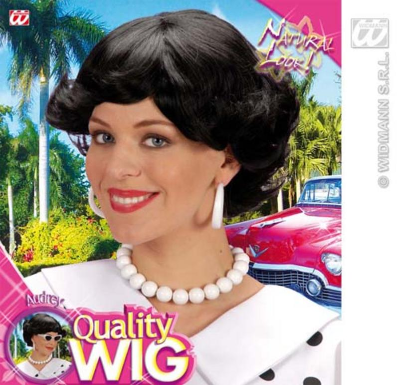 Ladies Styled Black Flick Bob Wig Stepford Wives Desperate Housewives Fancy Dres
