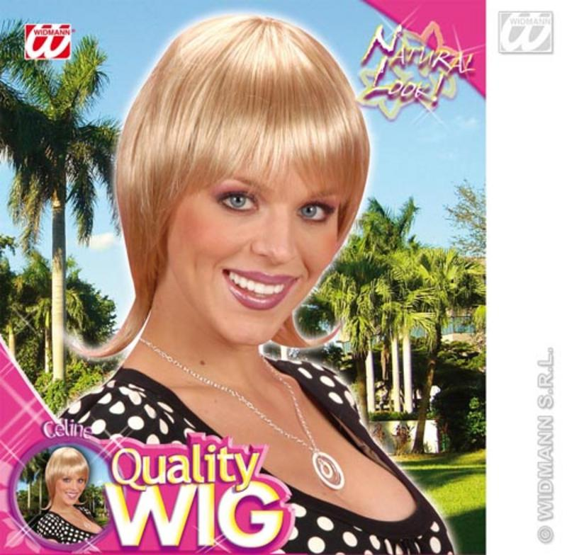 Ladies Smooth Blonde Bob Wig With Fringe French Style Celebrity Fancy Dress
