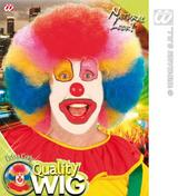 Adults Extra Curly Rainbow Afro Wig Multicoloured Clown Fancy Dress