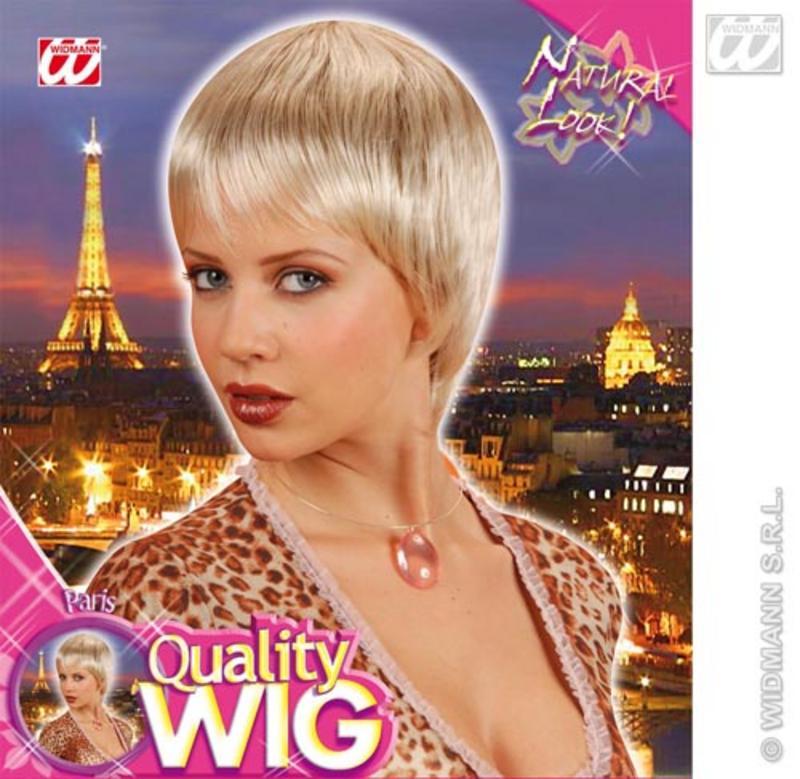 Ladies Short Blonde Bob Wig With Fringe Model Celebrity Fancy Dress