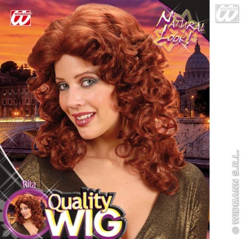 Ladies Curly Auburn Wig Cheryl Cole Pop Star Country Girl Fancy Dress