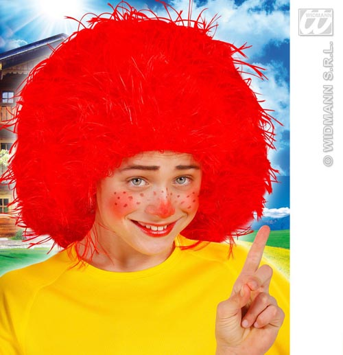 Childrens Large Red Afro Wig Clown Circus Act Fancy Dress