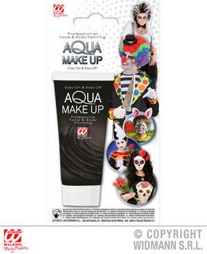 Black Aqua Makeup In Tube 30Ml Halloween Fancy Dress Costume Accessory