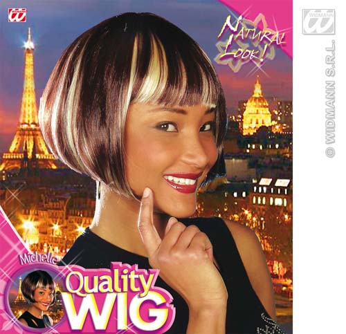 Ladies Brown Bob Wig With Streaks Victoria Beckham Glamour Fancy Dress