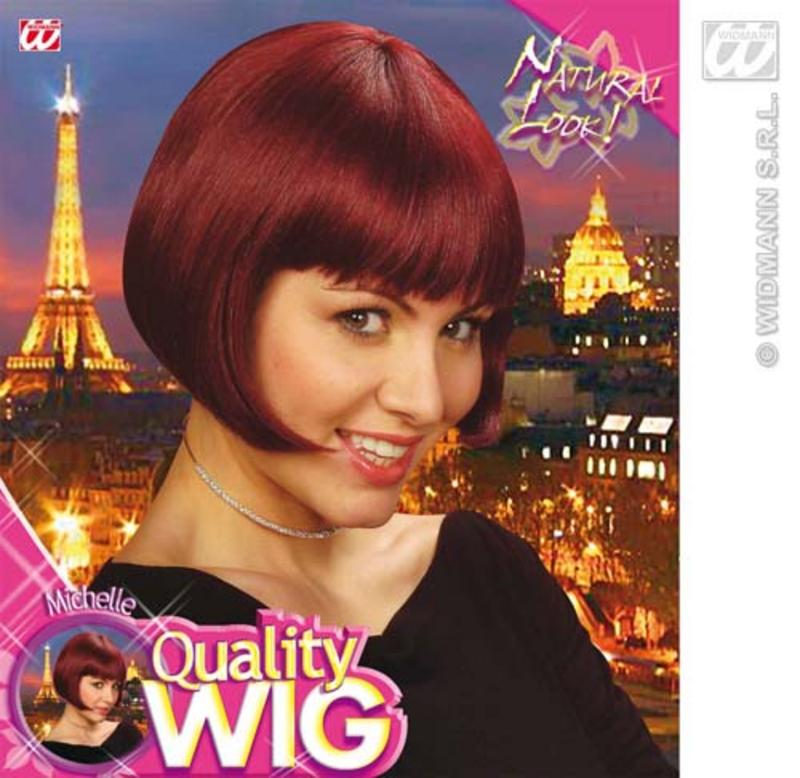 Ladies Deep Red Bob Wig With Fringe 60'S Charleston Secretary Fancy Dress