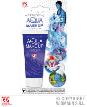 Blue Aqua Makeup In Tube 30Ml Smurf Halloween Fancy Dress Costume Accessory