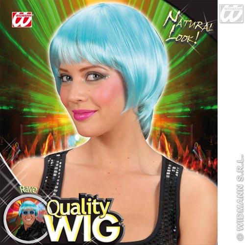 Turquoise Bob Wig With Fringe Nu Rave Emo Festival Fancy Dress