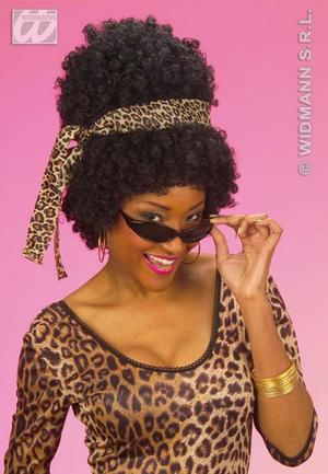 Afro Foxy Cleopatra Austin Powers Wig With Headband And Glasses