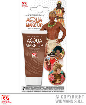 Brown Aqua Makeup In Tube 30Ml Halloween Werewolf Fancy Dress Costume Accessory
