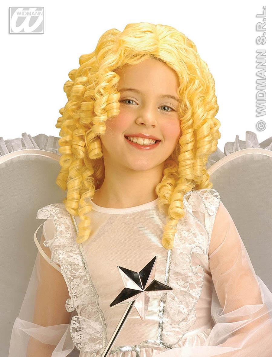 Childrens Kids Long Blonde Ringlet Wig Goldilocks Princess