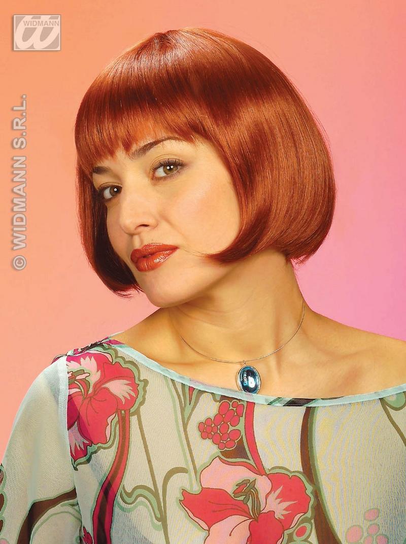 Ladies Short Brown Bib Wig Auburn Fashion Actress Pop Star Fancy Dress