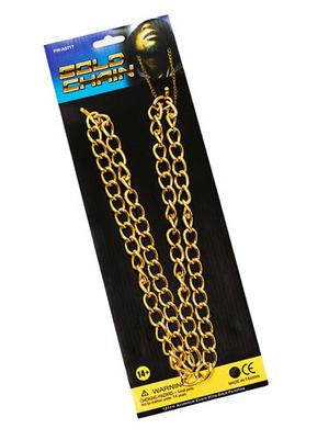 100Cm Gold Chain Pimp Gangster Hip Hop Mr T Fancy Dress
