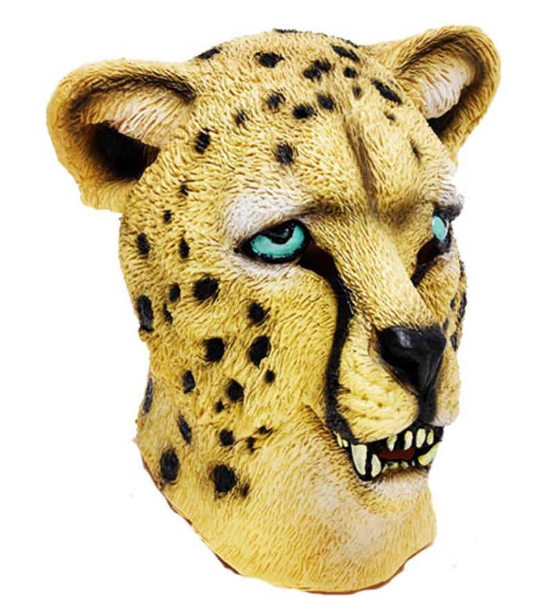 Rubber Overhead Leopard Big Cat - Animal Fancy Dress