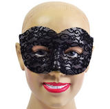 Black Lace Eye Mask Masquerade Ball Venetian Fancy Dress