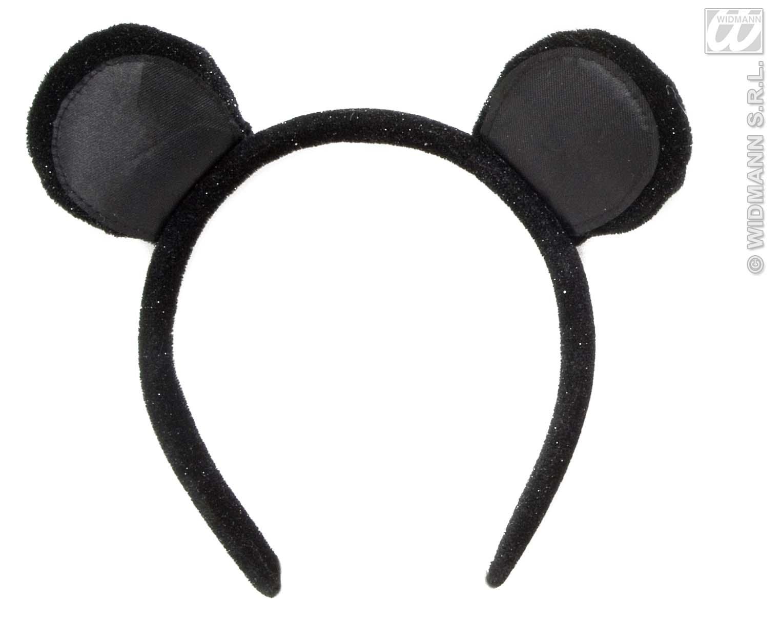 Black Velvet Mouse Ears Headband Animal Fancy Dress