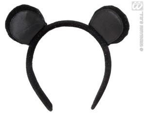 Black Velvet Mouse Ears Headband Animal Fancy Dress