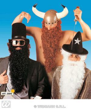 Large Black Beard With Moustache - Viking Wizard Troll Pirate Fancy Dress