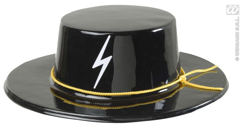 Pvc Caballero Top Hat Spanish Mexican Fancy Dress