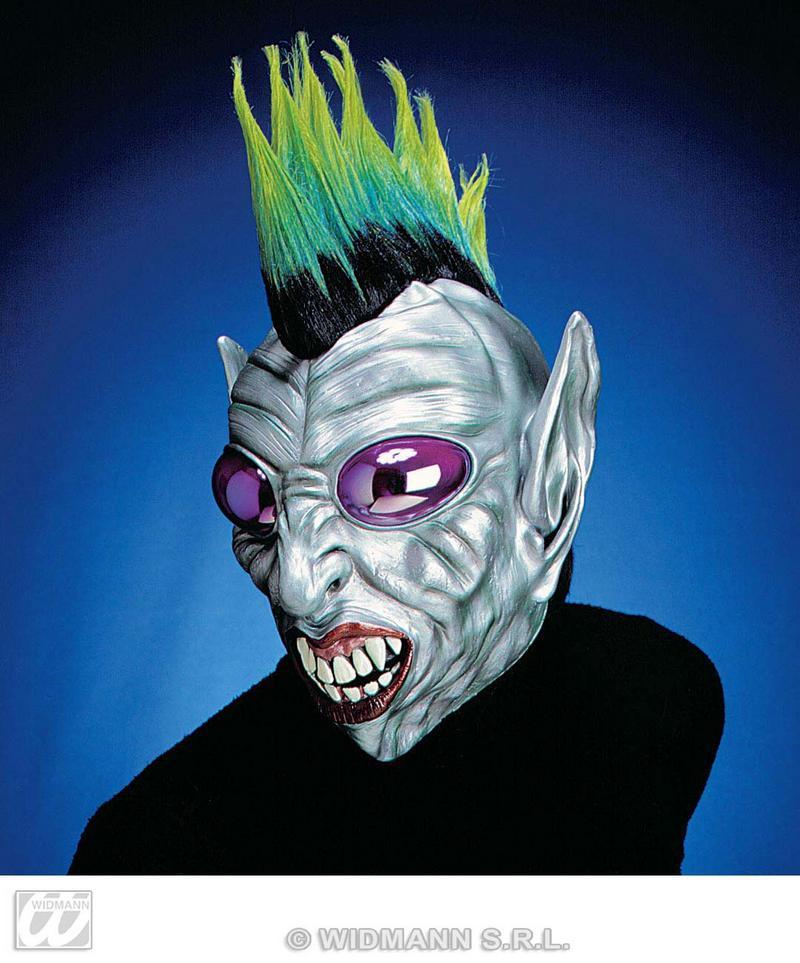 Punk Alien Mask With Bubble Eyes Scary Halloween Face Mask Fancy Dress