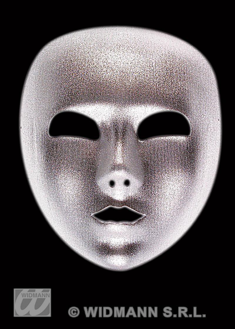 Silver Fabric Eye Mask Robot Masquerade Ball Halloween Fancy Dress