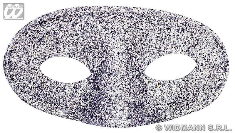 Silver Glitter Acapulco Eyemasks Eye Mask Masquerade Ball Fancy Dress