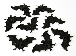 8 Small Black Bats Vampire Halloween Party Fancy Dress Prop Practical Joke