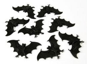 8 Small Black Bats Vampire Halloween Party Fancy Dress Prop Practical Joke