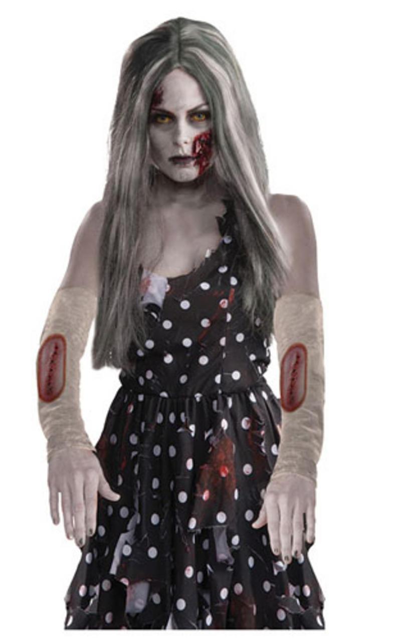 Zombie Arm Sleeves Halloween The Walking Dead Dead Fancy Dress Costume Prop