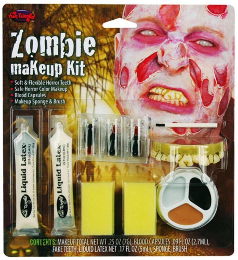 Zombie Make Up Kit Facepaint Set Halloween Monster Ghoul Fancy Dress