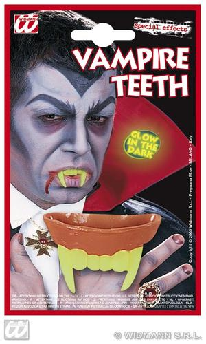 Glow In The Dark Vampire Dracula Teeth Haloween Fancy Dress