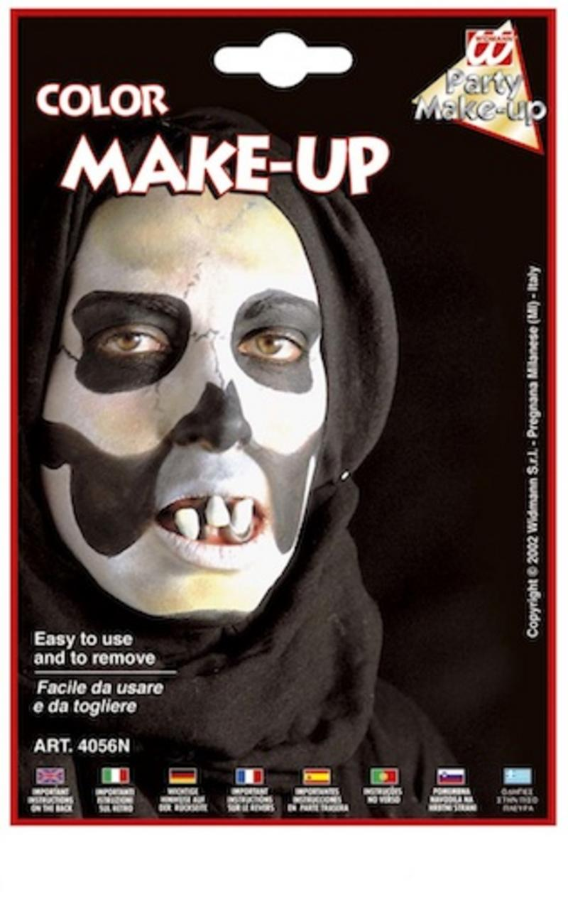 Black Make Up In Tray Face Paint Halloween Fancy Dress