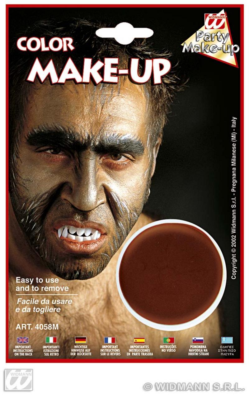Brown Make Up In Tray Face Paint Halloween Fancy Dress Werewolf