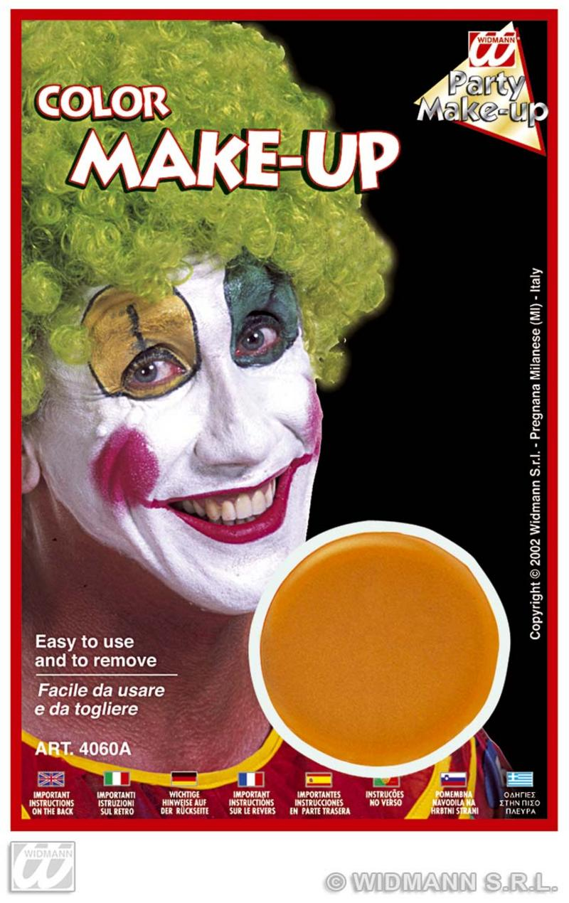 Orange Make Up In Tray Face Paint Halloween Fancy Dress Pumpkin