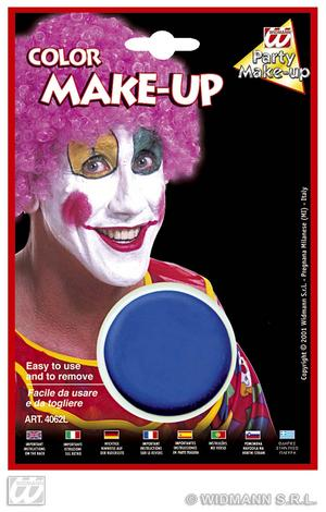 Blue Make Up In Tray Face Paint Halloween Fancy Dress Smurf