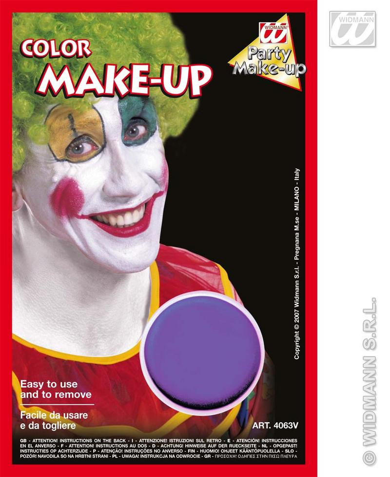 Purple  Make Up In Tray Face Paint Halloween Fancy Dress Witch