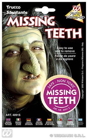 Missing Teeth Makeup Set Kit Witch Halloween Fancy Dress