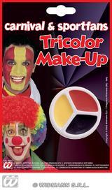 Facepaint Set Makeup - Black Red Yellow Fancy Dress