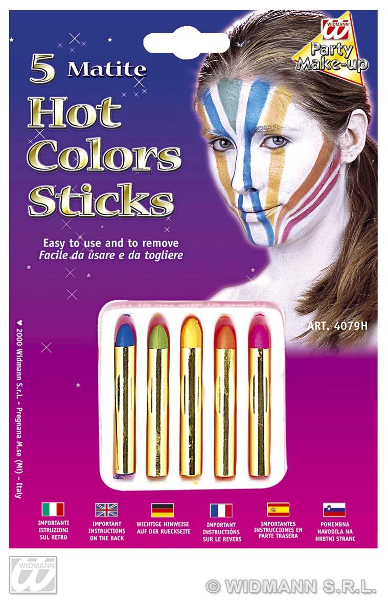 Hot Colour Makeup Sticks Fancy Dress Party