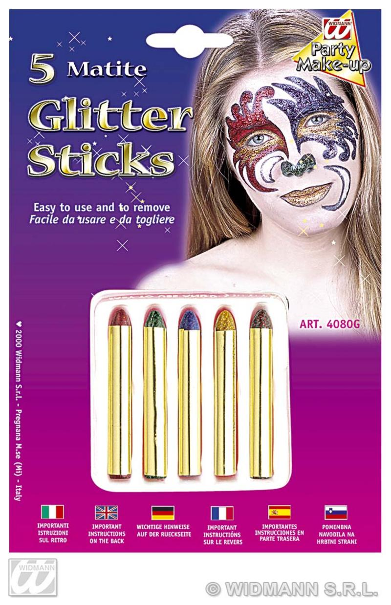 Glitter Makeup Sticks Fancy Dress Halloween Fancy Dress
