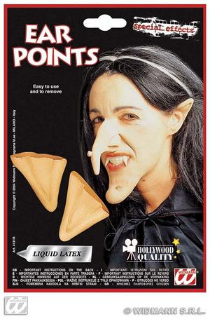 Ear Points With Adhesive Elf Pixie Fairy Witch Halloween Fancy Dress