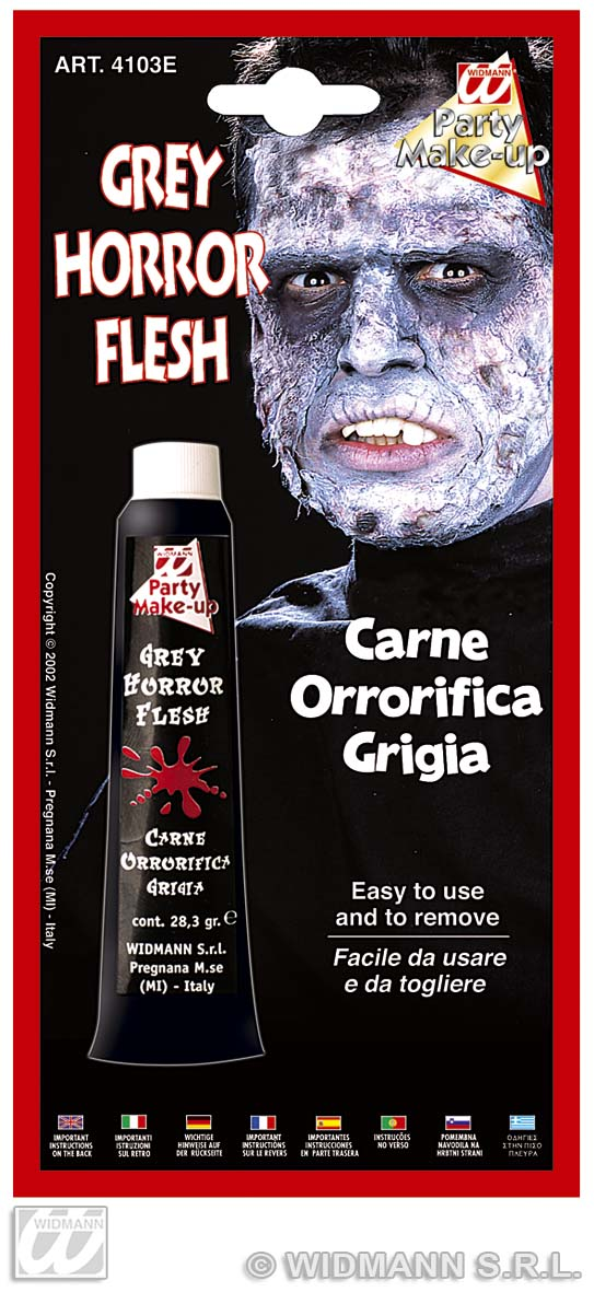 Horror Flesh Tube Grey Make Up Halloween Fancy Dress