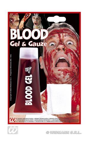 Blood Gel Tube With Gauze Zombie Halloween Make Up Fancy Dress